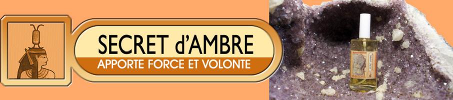 SECRET D'AMBRE : APPORTE FORCE ET VOLONTÉ